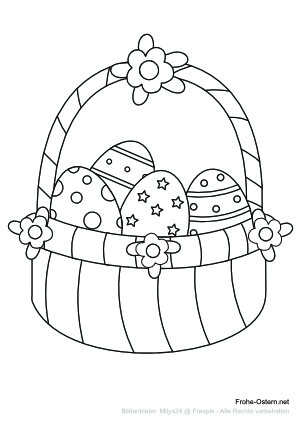 Ostereikorb<br> (free printable coloring page)